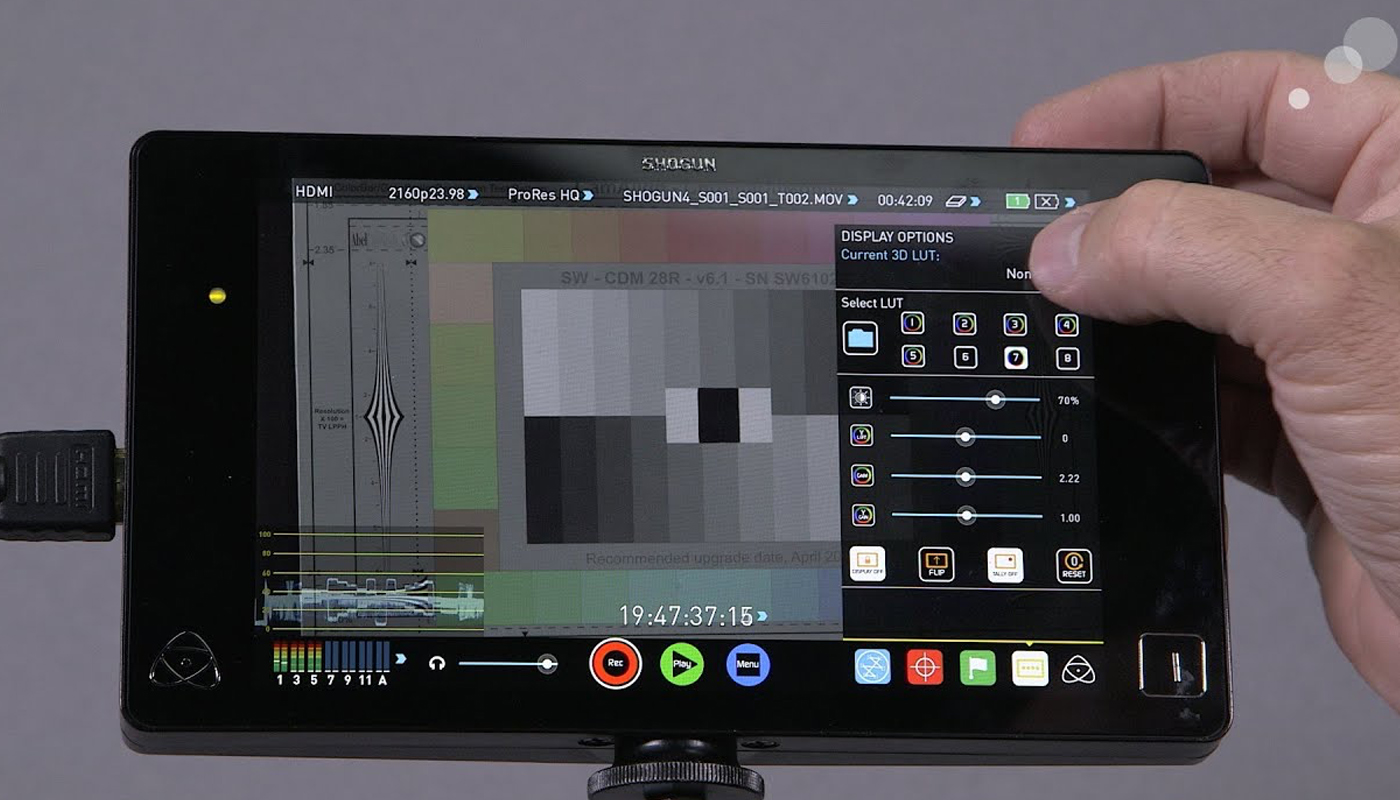 Watch Atomos' video updates on the new Shogun features and forthcoming Power Station.