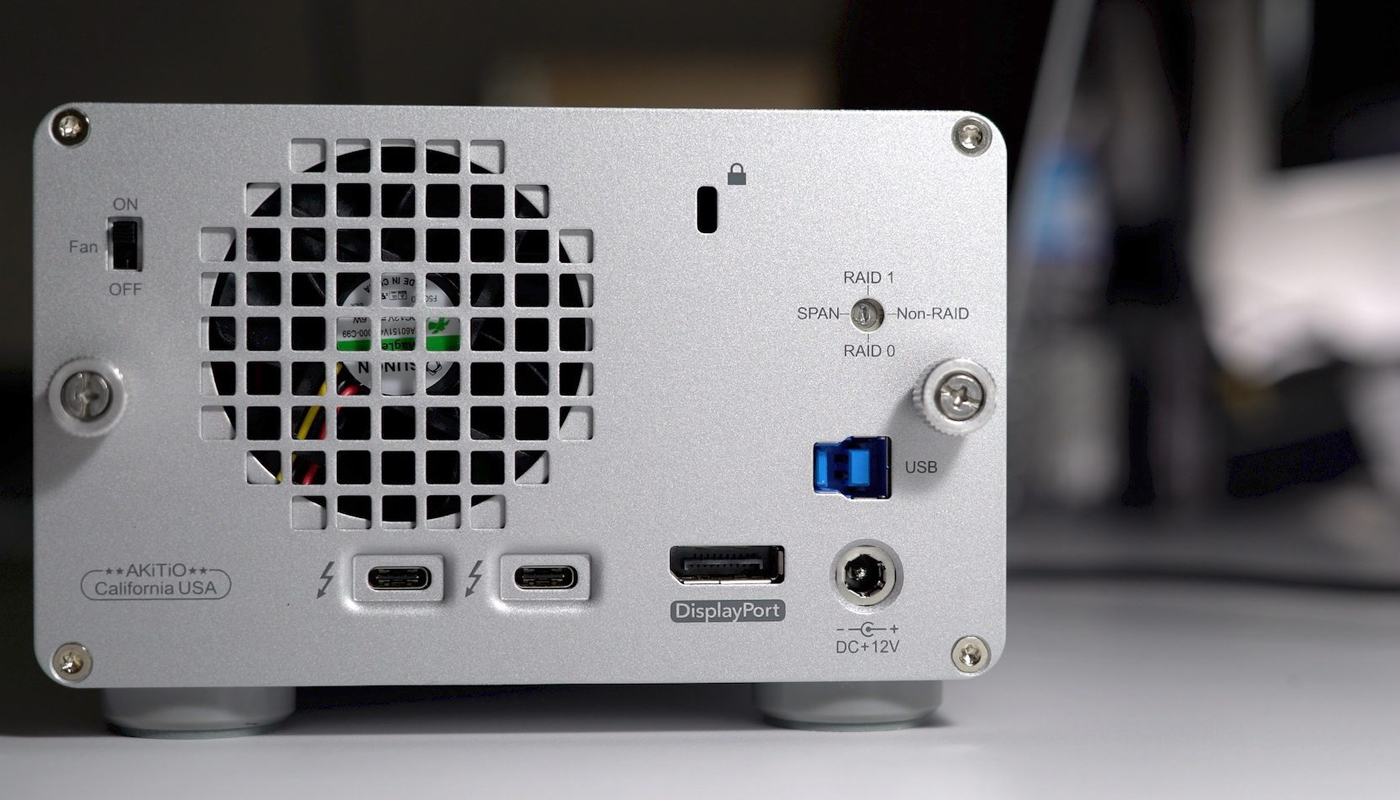 Professional Thunderbolt-3 Storage for your Mac or Windows workstation