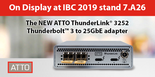 ATTO ThunderLink NS 3252 Thunderbolt 3 to 25GbE adapter