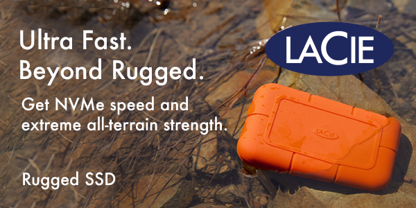 LaCie Ultra Fast. Beyond Rugged. Banner