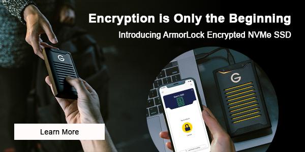 G-Technology ArmorLock - Mobile Banner image